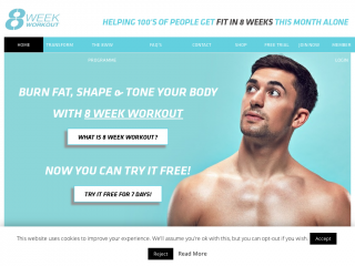 8weekworkout.co.uk screenshot