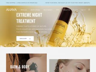 ahava.com screenshot