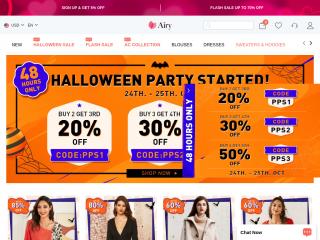 airydress.com screenshot