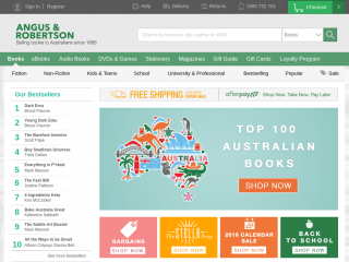 angusrobertson.com.au screenshot
