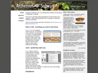 anthemion.co.uk screenshot