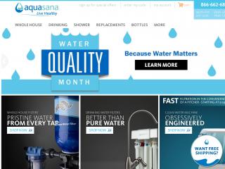 aquasana.com screenshot