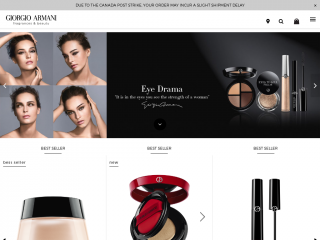 armani-beauty.ca screenshot