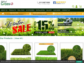 artificialgrassgb.co.uk screenshot