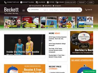 beckett.com screenshot