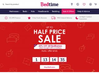 bedtime.co.uk screenshot