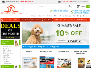 bestvetcare.com screenshot