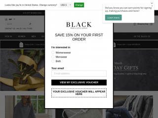 black.co.uk screenshot