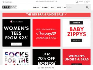 bondsoutlet.com.au screenshot