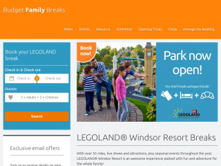 budgetfamilybreaks.co.uk screenshot