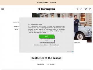 burlington.de screenshot
