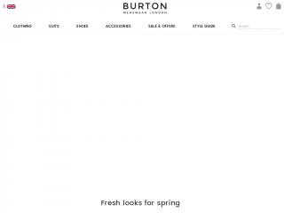 burton.co.uk screenshot