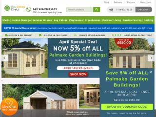 buyshedsdirect.co.uk screenshot