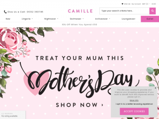 camille.co.uk screenshot