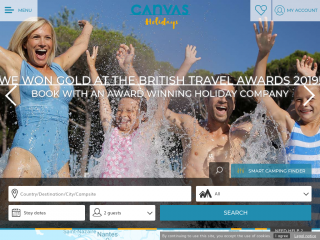 canvasholidays.co.uk screenshot