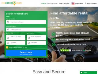 carrental8.com screenshot