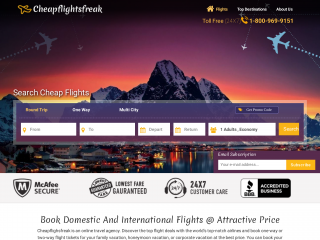 cheapflightsfreak.com screenshot