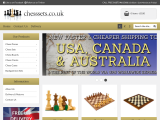 chesssets.co.uk screenshot