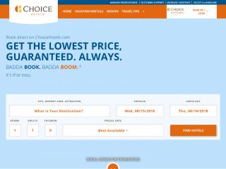 choicehotels.com screenshot