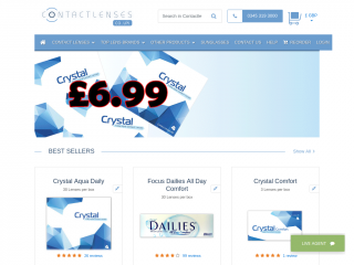 contactlenses.co.uk screenshot