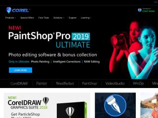 corel.com screenshot