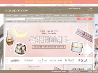 cosme-de.com screenshot