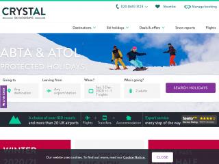 crystalski.co.uk screenshot