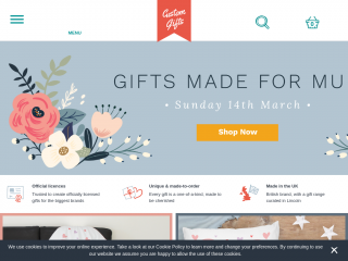 customgifts.co.uk screenshot