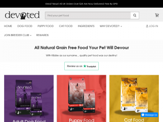 devotedpetfoods.co.uk screenshot