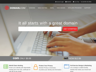 domain.com screenshot
