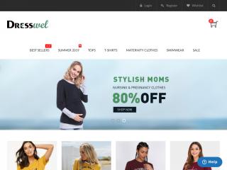 dresswel.com screenshot