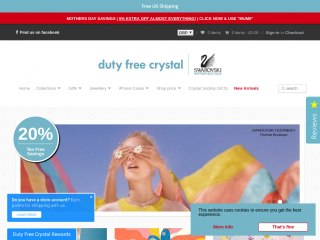 dutyfreecrystal.co.uk screenshot