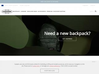 eastpak.com screenshot