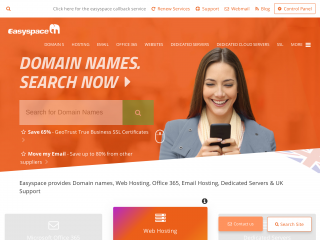 easyspace.com screenshot