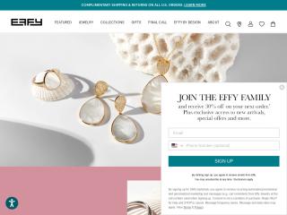 effyjewelry.com screenshot