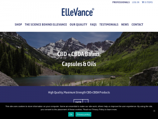ellevancesciences.co.uk screenshot
