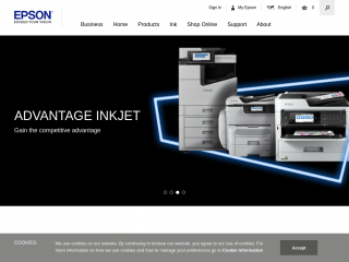 epson.co.uk screenshot