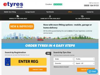 etyres.co.uk screenshot