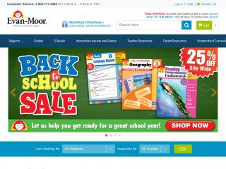 evan-moor.com screenshot