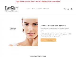 everglamcosmetics.com screenshot
