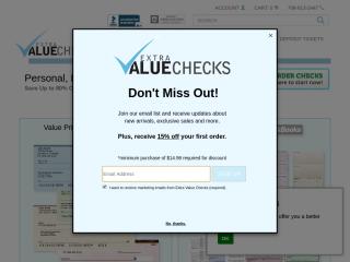 extravaluechecks.com screenshot