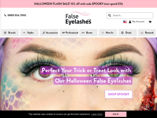 falseeyelashes.co.uk screenshot