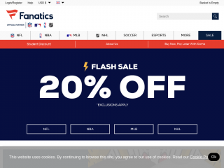 fanatics.co.uk screenshot