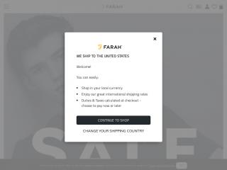 farah.co.uk screenshot