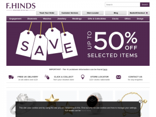 fhinds.co.uk screenshot