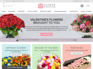 flowerstation.co.uk screenshot