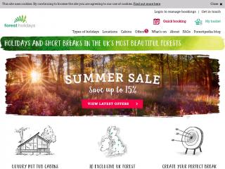 forestholidays.co.uk screenshot