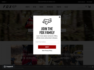 foxracing.ca screenshot