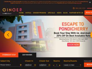 gingerhotels.com