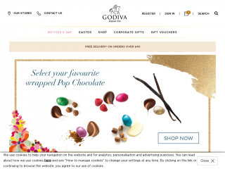 godivachocolates.co.uk screenshot